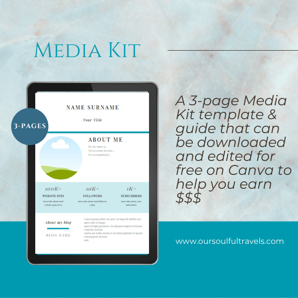 3 Page Media Kit Template & Guide